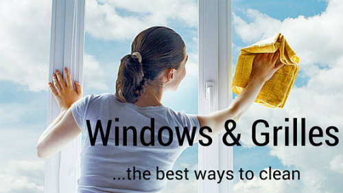 Best Ways to Clean Windows and Grilles